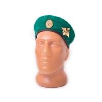 Берет зеленый с кокардой и эмблемой ВС РФ