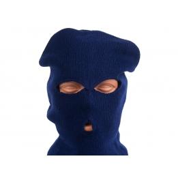 Маска-балаклава вязаная (синяя)