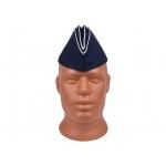 Пилотка синяя с белым кантом