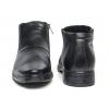 Кожаные зимние туфли на молнии