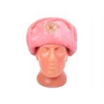 Шапка-ушанка (светло-розовая)