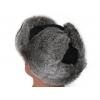 Шапка-ушанка из кролика (серый мех)