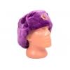 Шапка-ушанка (фиолетовая)