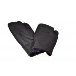 Рукавицы меховые трёхпалые (черные)