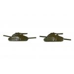Эмблема танковых войск на петлицы (полевая)