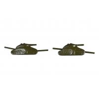 Эмблема танковых войск полевая на петлицы