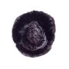 Шапка-ушанка (черная,длинный мех)