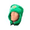Шапка-ушанка с Гербом России (зелёная)