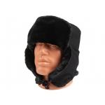 Чёрная шапка-ушанка