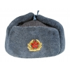 Солдатская шапка ушанка с кокардой