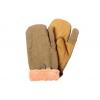 Варежки (рукавицы) оливкового цвета
