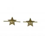 Звезда защитного цвета на погоны (13мм)