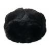 Шапка-ушанка кролик черный